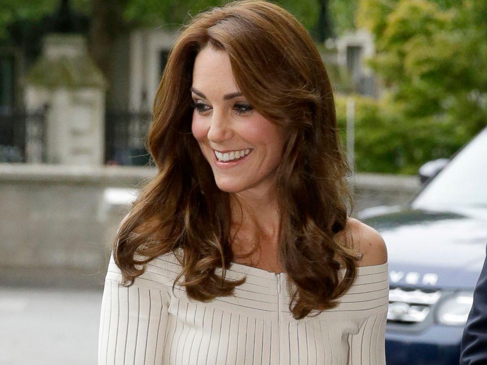 Duchess Kate Stuns in a Cream Gown