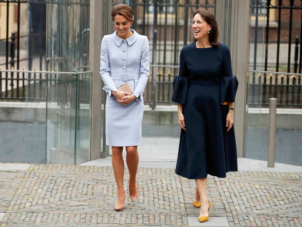 PHOTO: Britains Catherine, Duchess of Cambridge, leaves with museum director Emilie Gordenke after viewing the exhibition At Home in Holland: Vermeer and his Contemporaries from the British Royal Collection in the Hague, the Netherlands, Oct. 11, 2016.