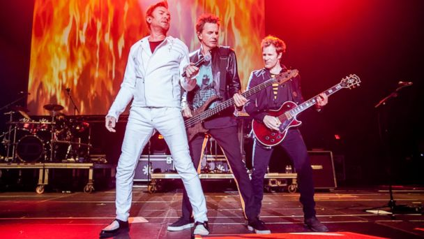PHOTO: Simon Le Bon, John Taylor and Dominic Brown of Duran Duran perform on stage during day 3 of Sonar Music Festival, June 20, 2015, in Barcelona.