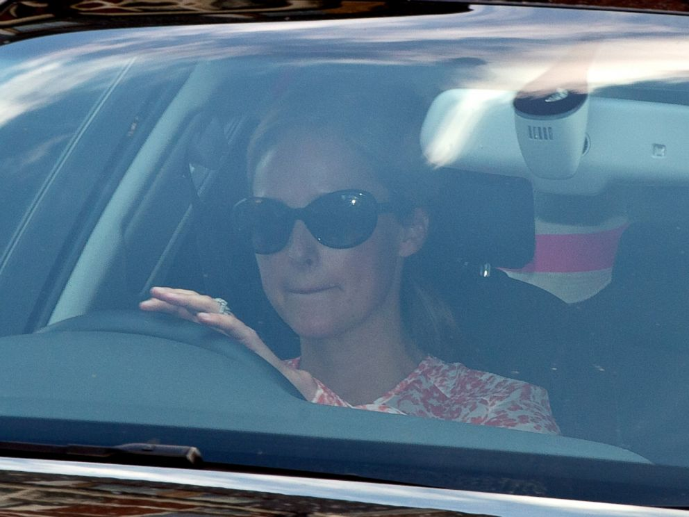 PHOTO: Emilia Derlanger arrives at Kensington Palace as Prince George of Cambridge turns one year old on July 22, 2014 in London.