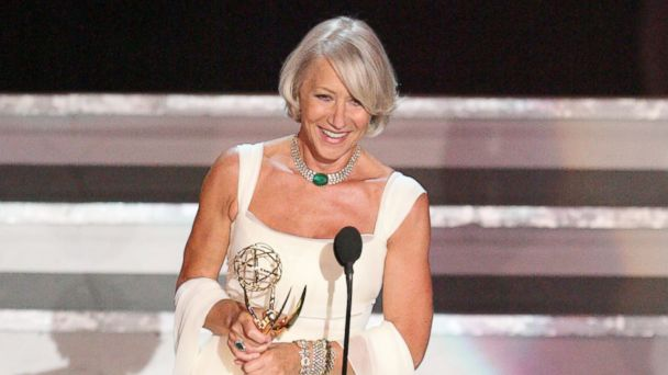 "PHOTO: Helen Mirren, winner Outstanding Lead Actress in a Miniseries or a Movie for ""Elizabeth I"" is seen in this image."