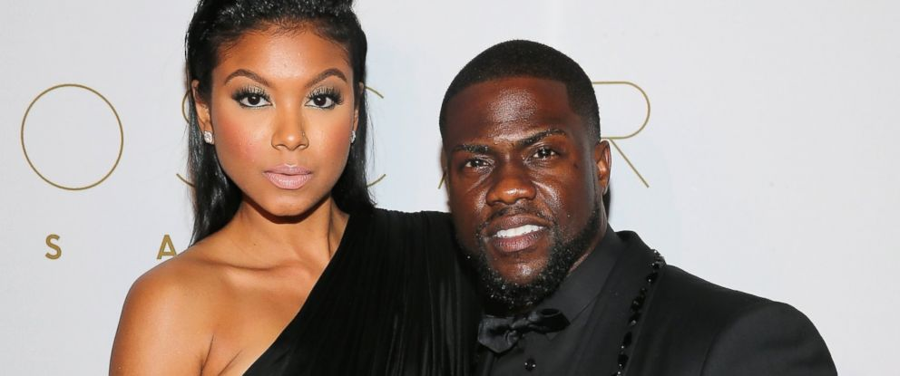PHOTO: Eniko Parrish and Kevin Hart attend the 2016 Oscar Salute Hosted By Kevin Hart - Academy Awards Screening And After-Party, Feb. 28, 2016 in Hollywood, California.