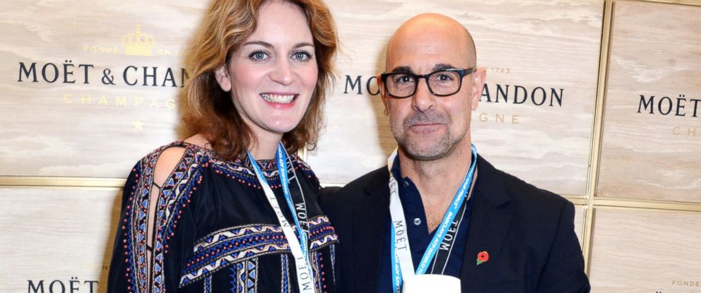 PHOTO: Felicity Blunt and Stanley Tucci at the O2 Arena, Nov. 16, 2014, in London.