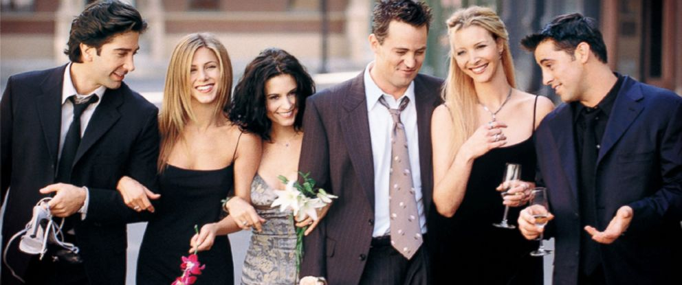 "PHOTO: Cast Members Of NBCs Comedy Series ""Friends."""