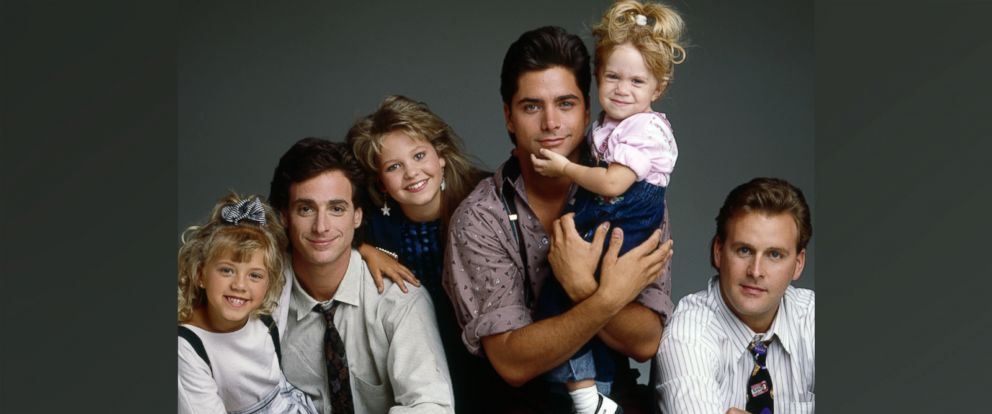 "PHOTO: The ""Full House"" cast is seen here in this 1989 file photo."