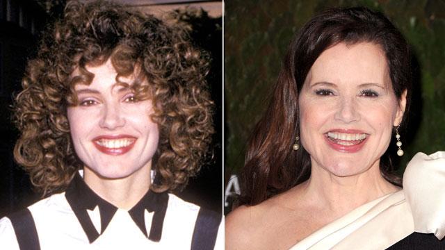 PHOTO:Geena Davis then and now.