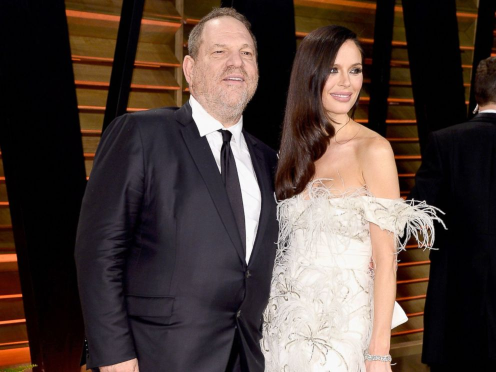 PHOTO: Studio executive Harvey Weinstein and fashion designer Georgina Chapman attends the 2014 Vanity Fair Oscar Party hosted by Graydon Carter on March 2, 2014.