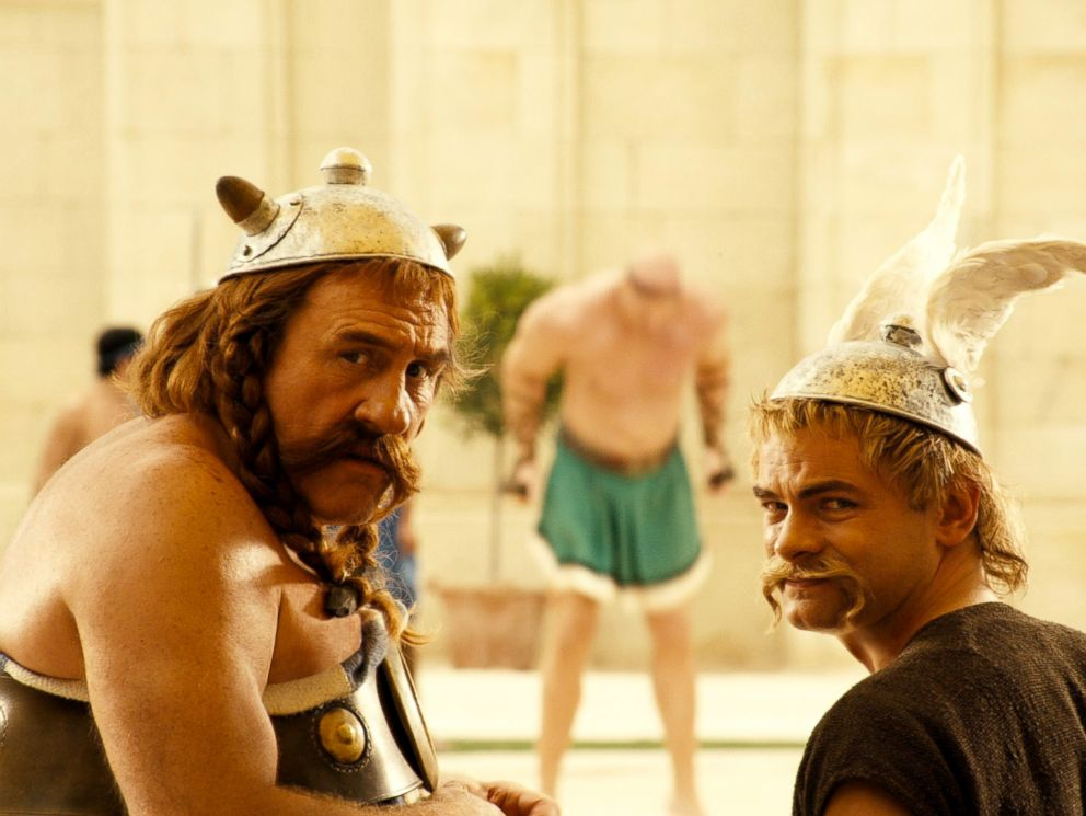 PHOTO: Gerard Depardieu and Clovis Cornillac in a scene from Asterix at the Olympic Games.
