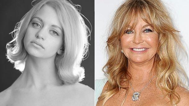 PHOTO: Goldie Hawn, 1965. | Goldie Hawn attends the amfAR Inspiration Gala at Milk Studios, Dec. 12, 2013 in Hollywood, Calif.