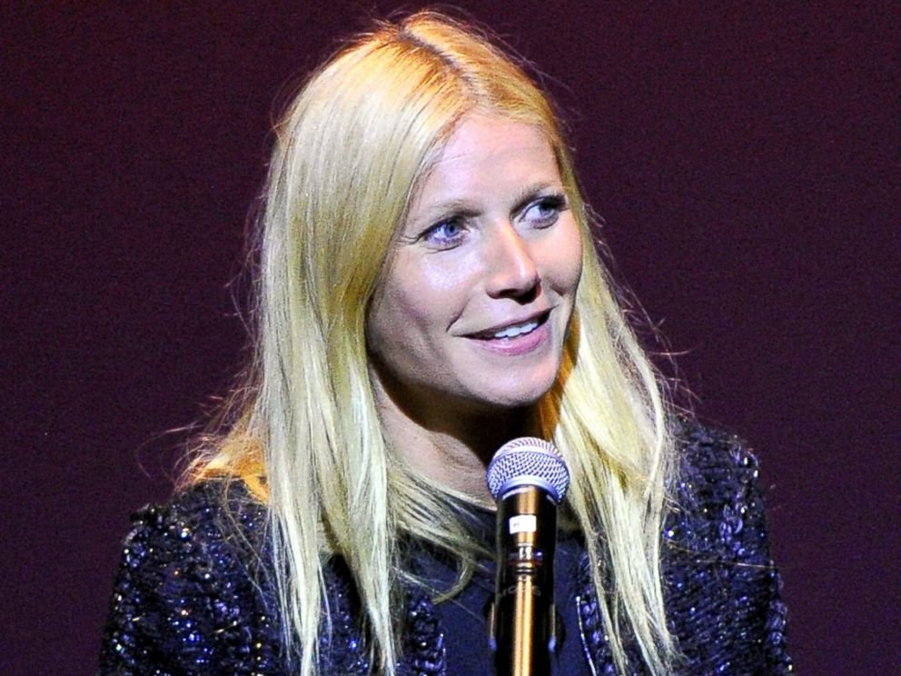 PHOTO: Gwyneth Paltrow speaks onstage at the first annual Poetic Justice Fundraiser for the Coalition For Engaged Education at the Herb Alpert Educational Village, May 28, 2014, in Santa Monica, Calif.
