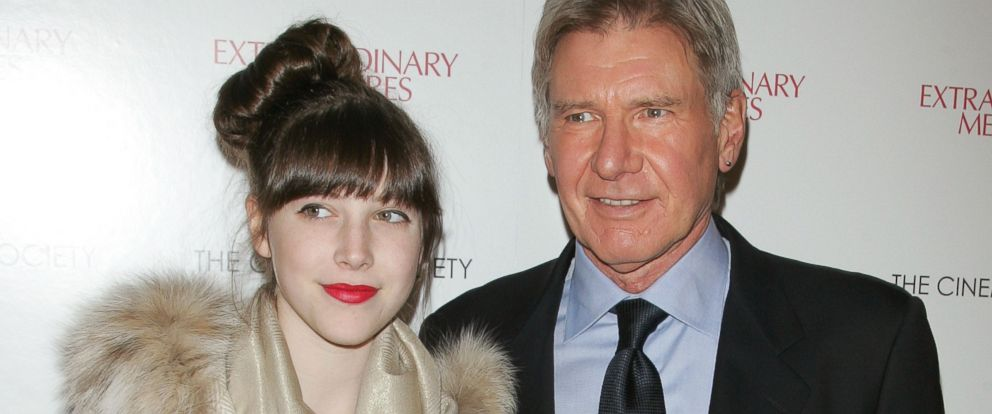 "PHOTO: Georgia Ford and actor Harrison Ford attend the Cinema Society with John & Aileen Crowley screening of ""Extraordinary Measures"" at the School of Visual Arts Theater, Jan. 21, 2010 in New York."
