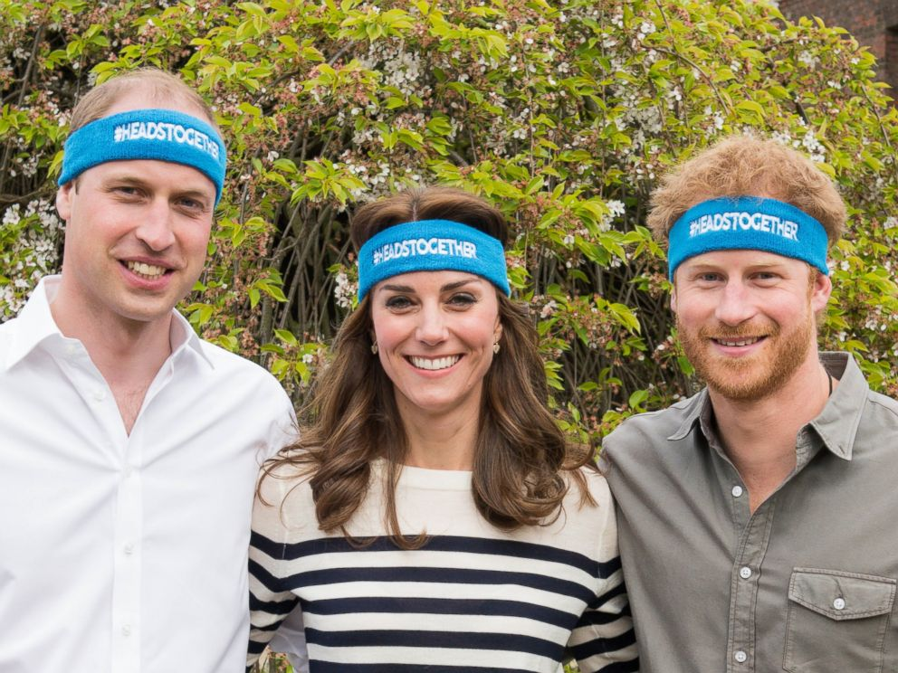 PHOTO:The Duke and Duchess of Cambridge and Prince Harry are spearheading a new campaign called Heads Together in partnership with inspiring charities, which aims to change the national conversation on mental wellbeing, April 21, 2016, in London.