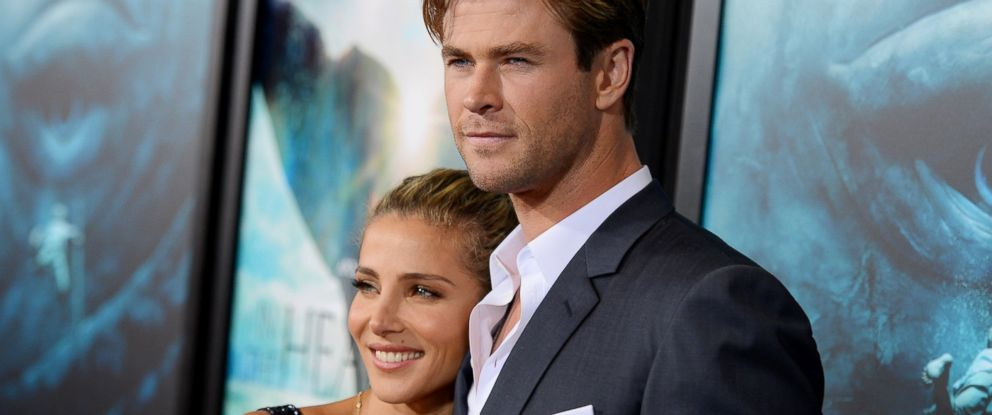 "PHOTO: Elsa Pataky and Chris Hemsworth attend ""In The Heart Of The Sea"" premiere on Dec. 7, 2015 in New York."