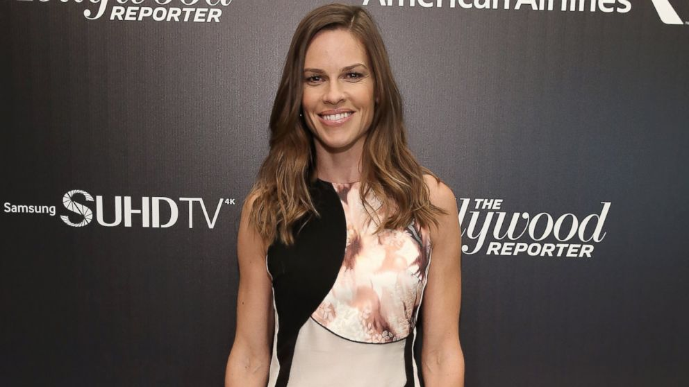 Actress Hilary Swank attends The 35 Most Powerful People In Media celebrated by The Hollywood Reporter at Four Seasons Restaurant, April 8, 2015, in New York.