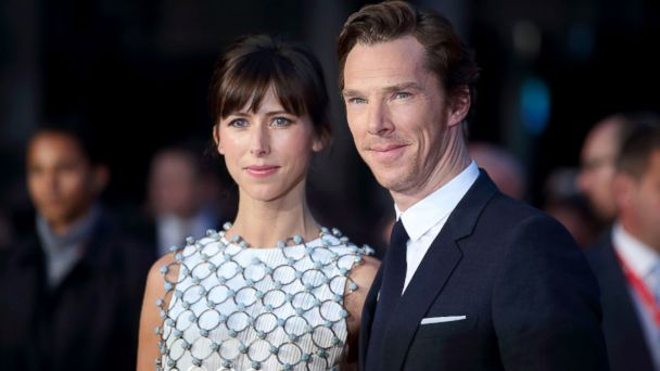 """PHOTO: Benedict Cumberbatch and Sophie Hunter attend a screening of """"Black Mass"""" during the BFI London Film Festival at Odeon Leicester Square, Oct. 11, 2015, in London."""