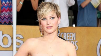 PHOTO: Jennifer Lawrence arrives at the 20th Annual Screen Actors Guild Awards on Jan. 18, 2014 in Los Angeles.