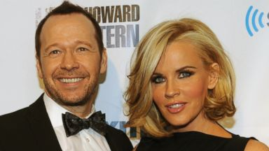 "PHOTO: Donnie Wahlberg and Jenny McCarthy at SiriusXMs ""Howard Stern Birthday Bash"" at Hammerstein Ballroom, Jan. 31, 2014 in New York."