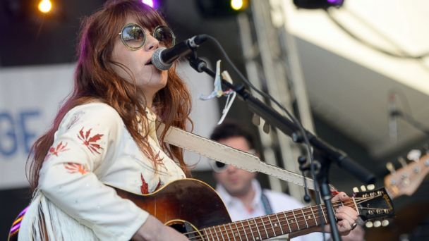 PHOTO: Jenny Lewis performs onstage during the Rachael Ray Feedback SXSW party at Stubbs, March 19, 2016, in Austin, Texas.