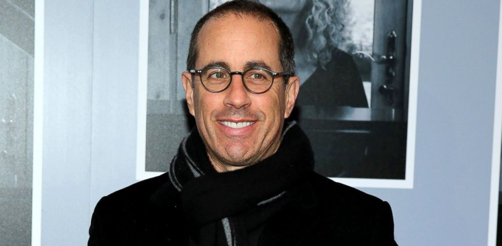 """PHOTO: Jerry Seinfeld attends the opening night of """"Beautiful - The Carole King Musical"""" at The Stephen Sondheim Theatre, Jan. 12, 2014, in New York City."""