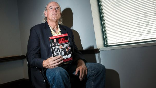 """PHOTO: Former pro wrestler and Governor of Minnesota from 1999 to 2003, Jesse Ventura pauses while speaking about his book """"They Killed Our President,"""" Oct. 4, 2013 in Washington, DC."""