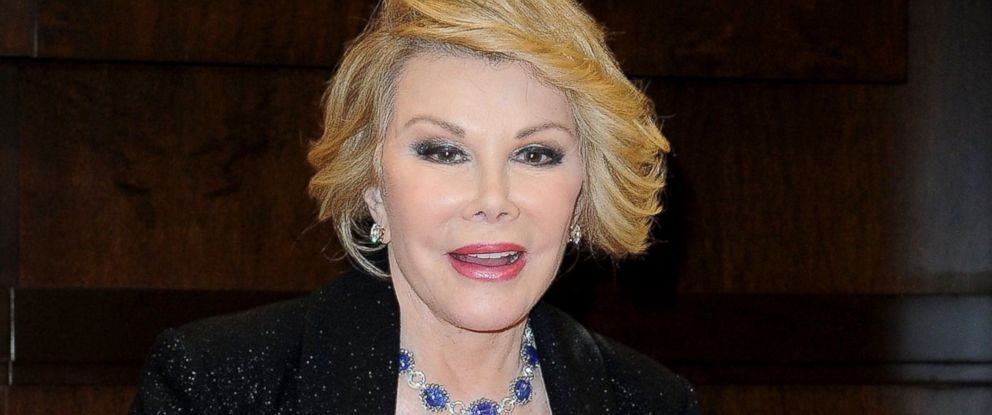 "PHOTO: Joan Rivers arrives at her book signing for ""Diary Of A Mad Diva"" at Barnes & Noble bookstore at The Grove, July 10, 2014, in Los Angeles."