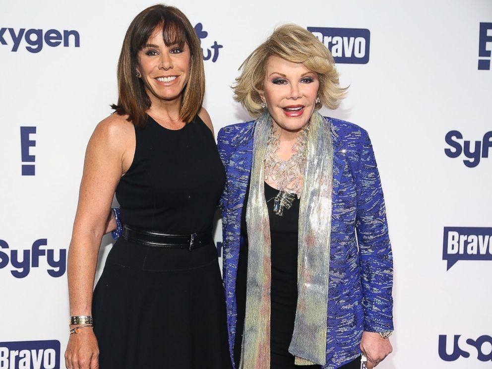 PHOTO: (L-R) Melissa Rivers and Joan Rivers attend the 2014 NBCUniversal Cable Entertainment Upfronts at The Jacob K. Javits Convention Center in this May 15, 2014, file photo in New York City.