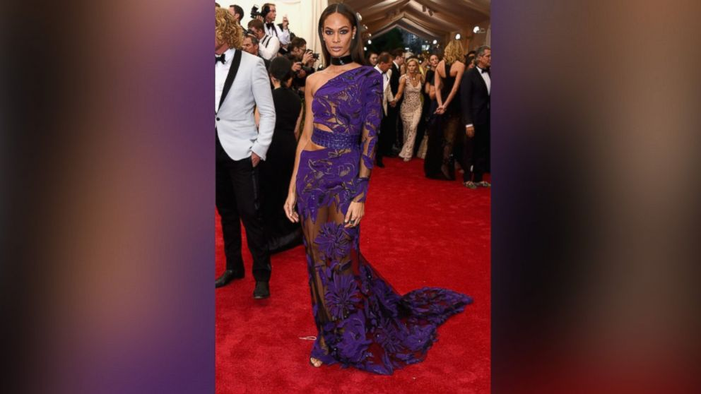 Joan Smalls attends the 'China: Through The Looking Glass' Costume Institute Benefit Gala at the Metropolitan Museum of Art in New York, May 4, 2015.