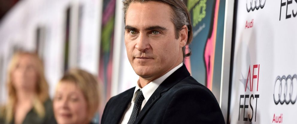 "PHOTO: Joaquin Phoenix attends the screening of ""Inherent Vice"" during AFI FEST 2014 presented by Audi at the Egyptian Theatre, Nov. 8, 2014, in Hollywood, Calif."