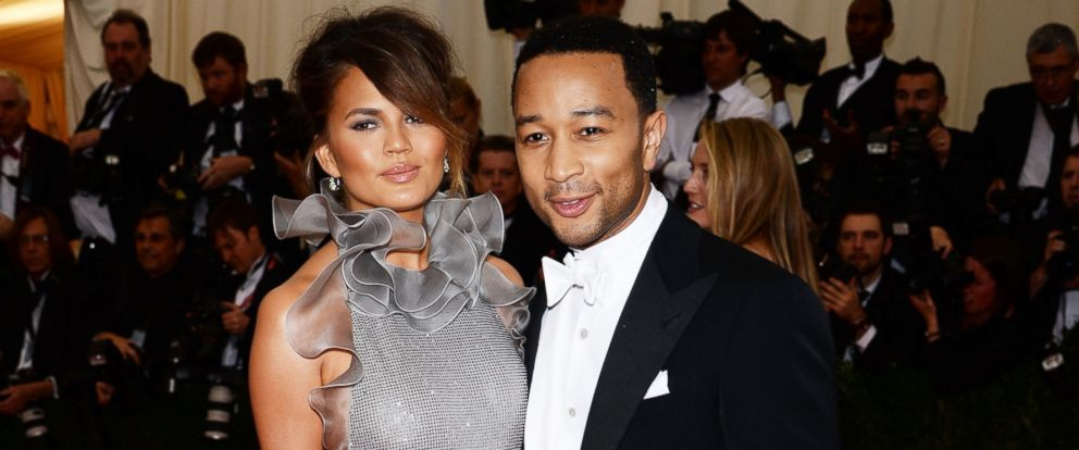 "PHOTO: Chrissy Teigen, left, and John Legend, right, attend the ""Charles James: Beyond Fashion"" Costume Institute Gala at the Metropolitan Museum of Art on May 5, 2014 in New York City."