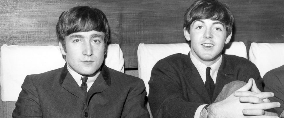 PHOTO: Two members of The Beatles, John Lennon (1940 - 1980), left, and Paul McCartney, are shown in this Nov. 1, 1963 photo.