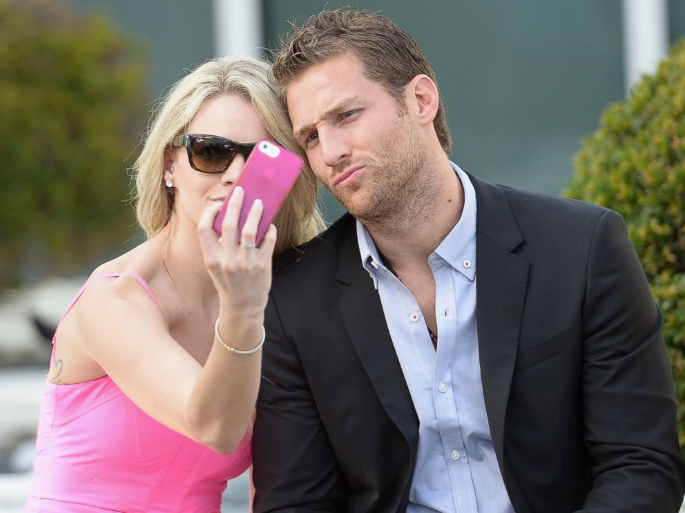 PHOTO: Nikki Ferrell and Juan Pablo Galavis attend the Moet & Chandon Tiny Tennis with Roger Federer at Club 50 at Viceroy Miami, March 19, 2014, in Miami.