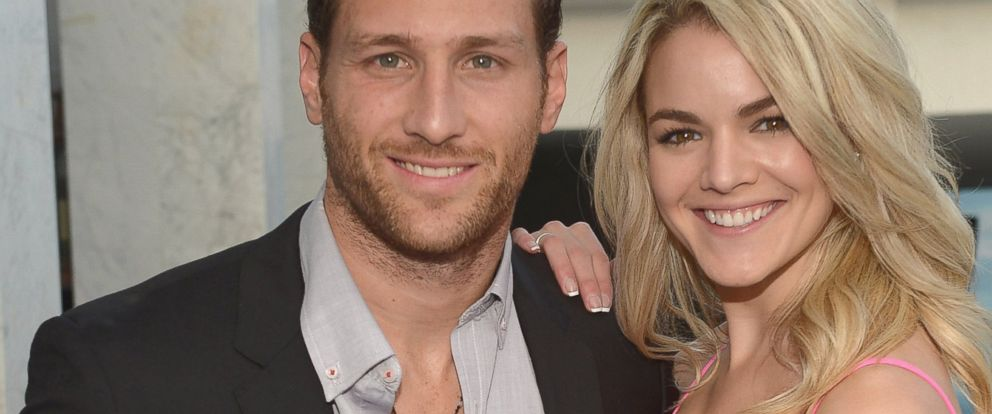 """PHOTO: Juan Pablo Galavis and Nikki Ferrell attend the Moet & Chandon """"Tiny Tennis"""" with Roger Federer at Club 50 at Viceroy Miami, March 19, 2014, in Miami."""