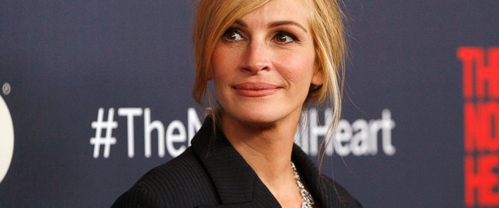 "PHOTO: Julia Roberts attends ""The Normal Heart"" New York Screening at Ziegfeld Theater, May 12, 2014, in New York."