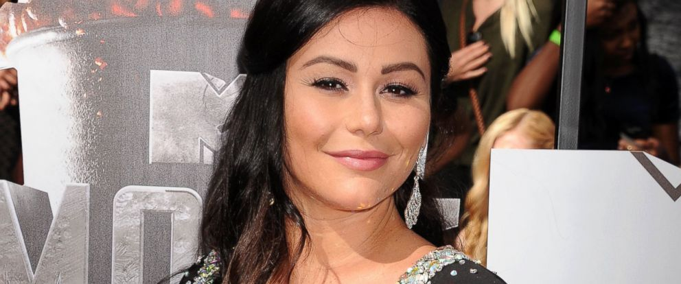 PHOTO: Jenni JWoww Farley attends the 2014 MTV Movie Awards at Nokia Theatre L.A. Live