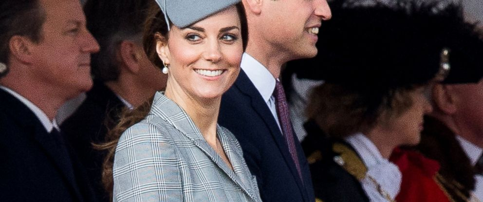 PHOTO: Catherine, Duchess of Cambridge, and Prince William attend a Ceremonial Welcome for the President of Singapore Tony Tan Keng Yam at Horse Guards Parade, Oct. 21, 2014, in London.