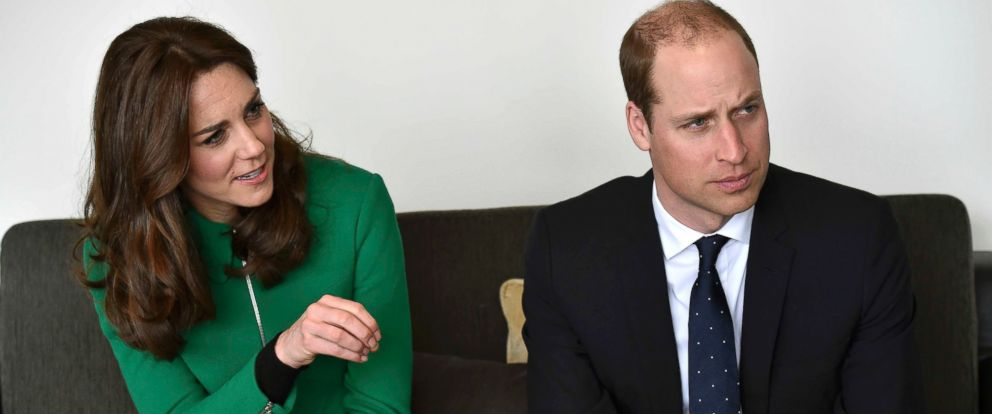 PHOTO: Catherine, Duchess of Cambridge and Prince William, Duke of Cambridge speak to former patients during their visit to St Thomas Hospital, March 10, 2016, in London.