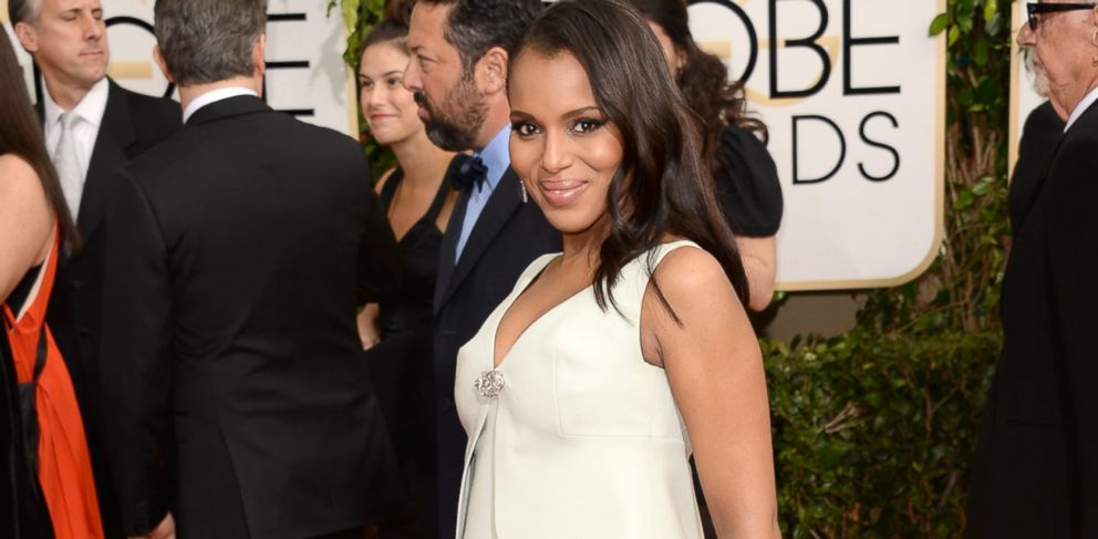 PHOTO: Kerry Washington attends the 71st Annual Golden Globe Awards