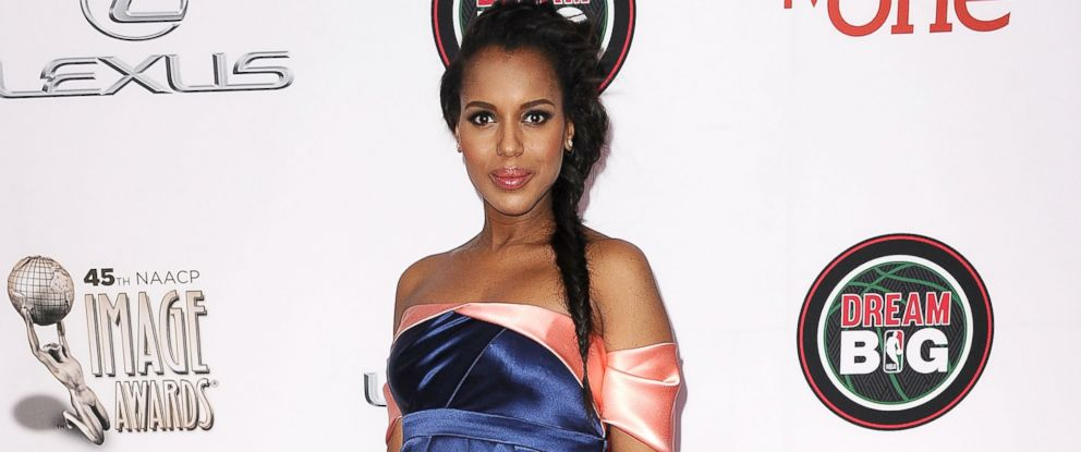 PHOTO: Kerry Washington is pictured on Feb. 22, 2014 in Pasadena, Calif.