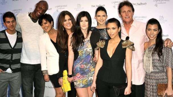 "PHOTO: Rob Kardashian, Lamar Odom, Kris Jenner, Khloe Kardashian, Kylie Jenner, Kendall Jenner, Kim Kardashian, Bruce Jenner and Kourtney Kardashian attend the launch for ""Unbreakable"" in Hollywood, Calif., April 4, 2011."