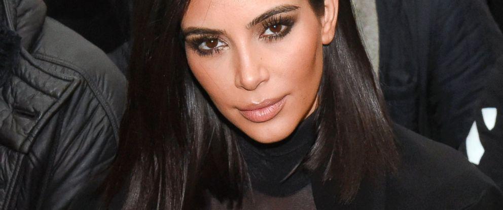 PHOTO: Kim Kardashian attends the Robert Geller show during Mercedes-Benz Fashion Week Fall 2015 at Pier 59, Feb. 14, 2015, in New York.