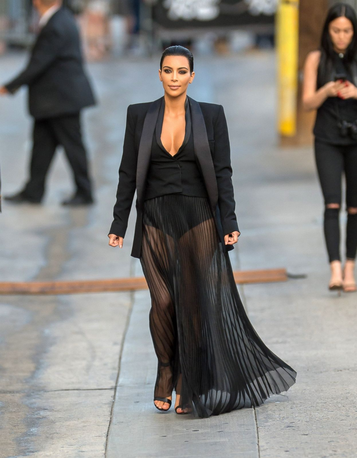 d647d5a33a Kim Kardashian Steps Out In Her Tiniest Cropped Top Yet Picture | Kim  Kardashian Through the Years - ABC News