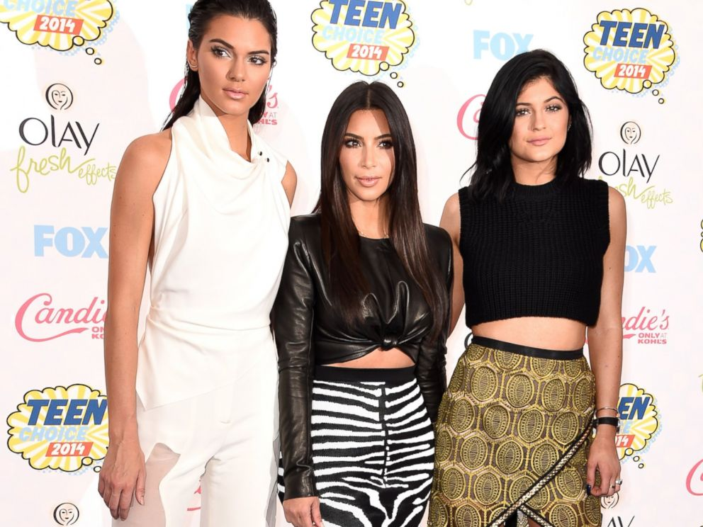 PHOTO: Kendall Jenner, Kim Kardashian and Kylie Jenner attend FOXs 2014 Teen Choice Awards at The Shrine Auditorium, Aug. 10, 2014, in Los Angeles.