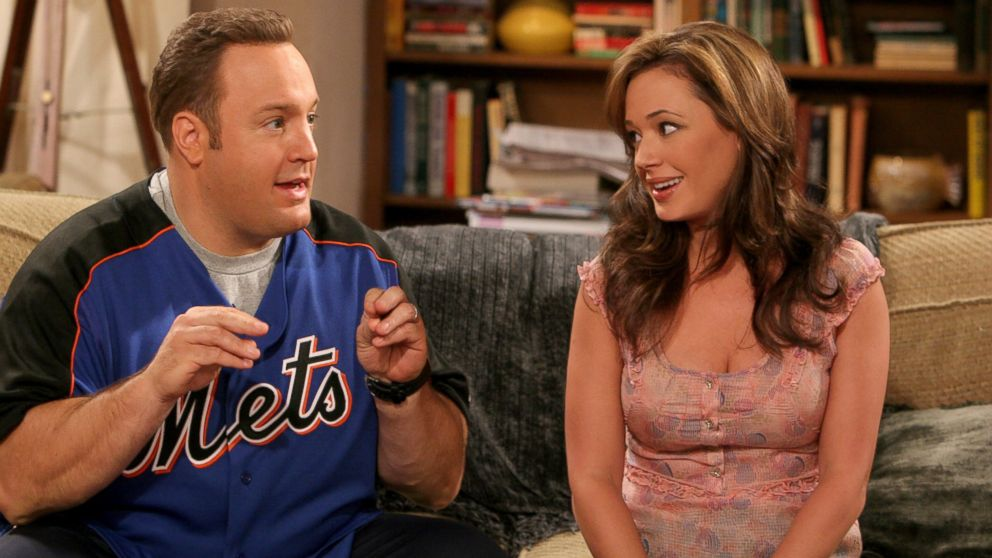 "Kevin James and Leah Remini star in ""The King Of Queens."""