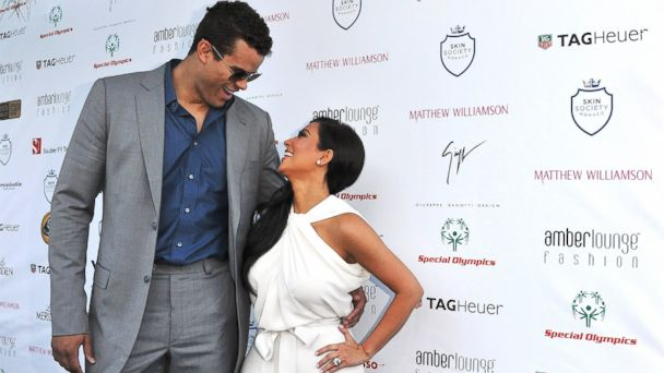 PHOTO: Kim Kardashian and Kris Humphries attend the AmberLounge Fashion Monaco 2011