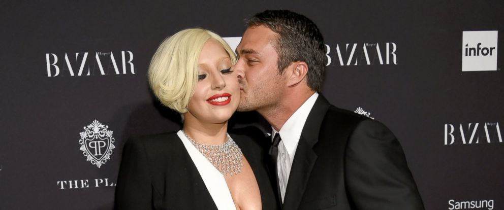 PHOTO: Lady Gaga and Taylor Kinney attend Samsung GALAXY At Harpers BAZAAR Celebrates Icons By Carine Roitfeld at The Plaza Hotel, Sept. 5, 2014 in New York.