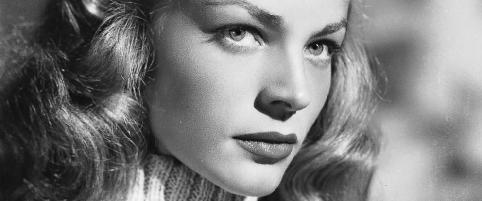 PHOTO: American screen star Lauren Bacall wearing a polo neck jumper circa 1945.