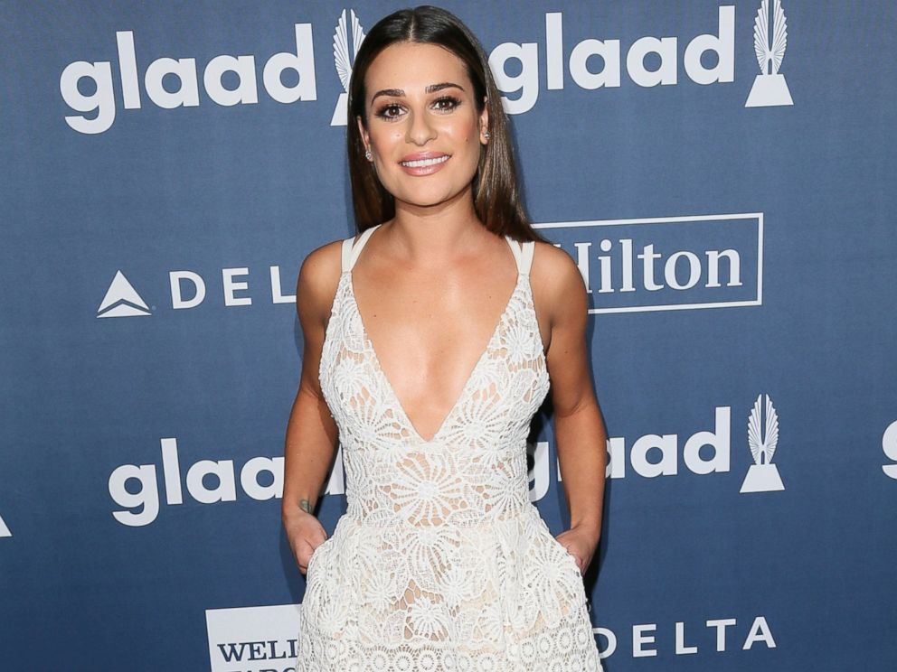 PHOTO: Lea Michele arrives at the 27th Annual GLAAD Media Awards at The Beverly Hilton Hotel, April 2, 2016 in Beverly Hills, Calif.