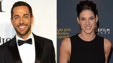 PHOTO: Zachery Levi, left, is pictured on June 8, 2014 in New York City. Missy Peregrym, right, is pictured on March 9, 2014 in Toronto, Canada.