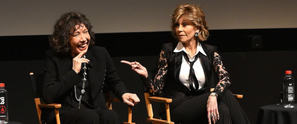 57814e59136185 PHOTO: Lily Tomlin and Jane Fonda speaks at the Tribeca Film Festival,  April 14