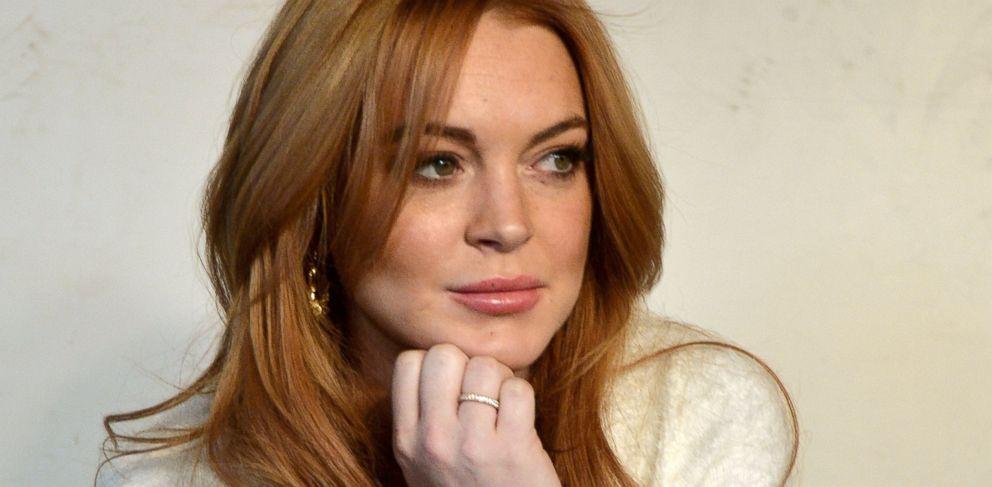 PHOTO: Lindsay Lohan speaks at a press conference at the Social Film Loft in Park City, Utah